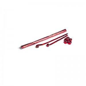 Metallic streamers 10m x 1.5cm - Red