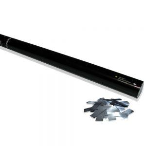 Confetti Handkanone 80cm Silber- Flitter