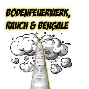 Bodenfeuerwerk, Rauch & Bengale