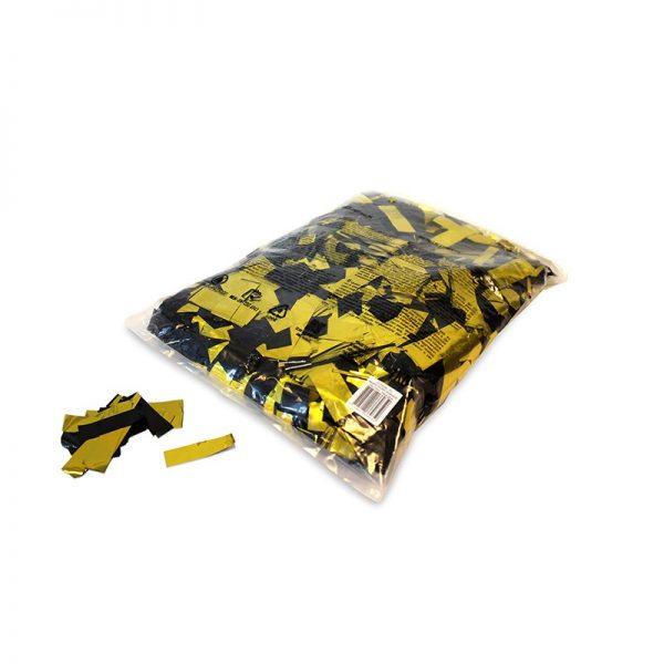 Konfetti Rectangles 55x17mm Bicolour Gold-Schwarz Flitter