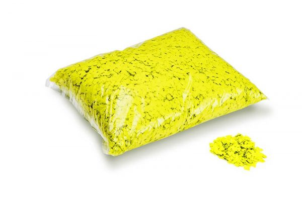 Konfetti Rectangles 6x6mm Powderfetti UV Gelb