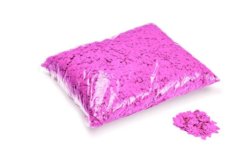 Konfetti Rectangles 6x6mm Powderfetti UV Pink