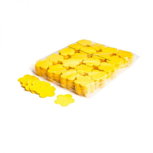 Konfetti Shapes Blumen Gelb