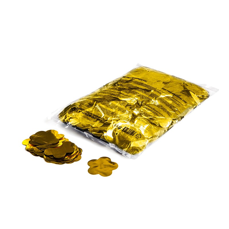 Konfetti Shapes Blumen Gold-Metallic