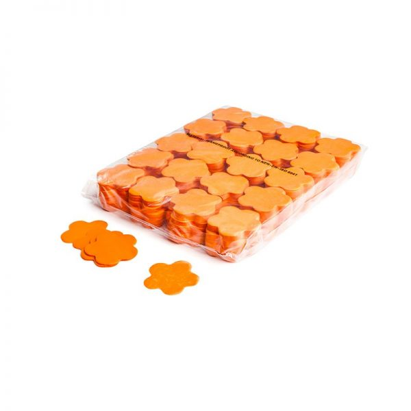 Konfetti Shapes Blumen Orange