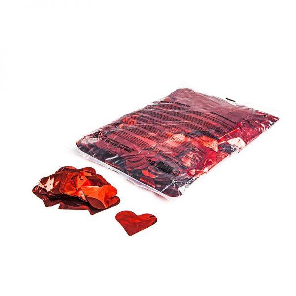 Konfetti Shapes Herzen Rot-Metallic