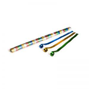 Luftschlangen 10mx1,5cm Bunt-Metallic