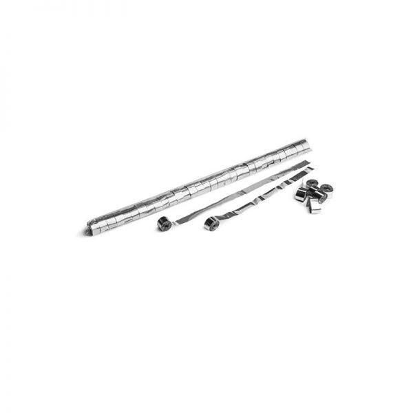 Luftschlangen 10mx1,5cm Silber-Metallic