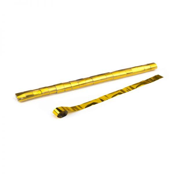 Luftschlangen 10mx2,5cm Gold Metallic