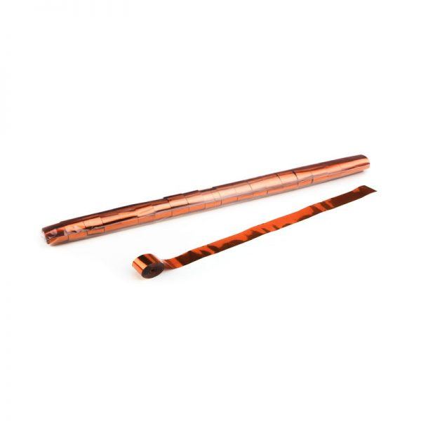 Luftschlangen 10mx2,5cm Orange-Metallic