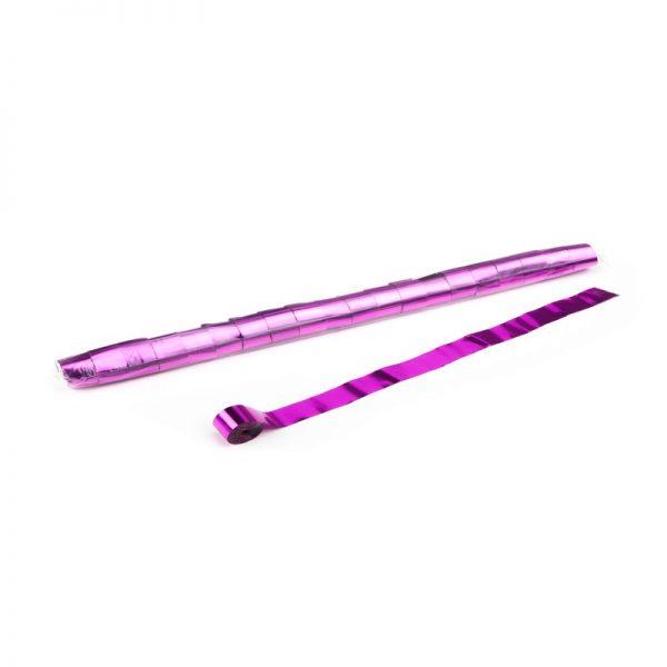 Luftschlangen 10mx2,5cm Pink Metallic