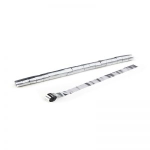 Luftschlangen 10mx2,5cm Silber Metallic
