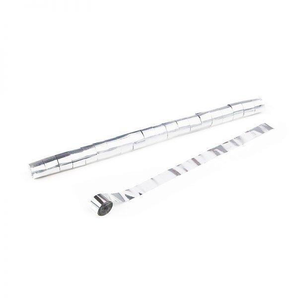 Luftschlangen 10mx2,5cm Weiß Metallic