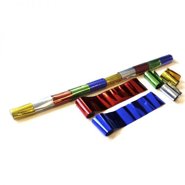 Luftschlangen 10mx5cm Bunt-Metallic