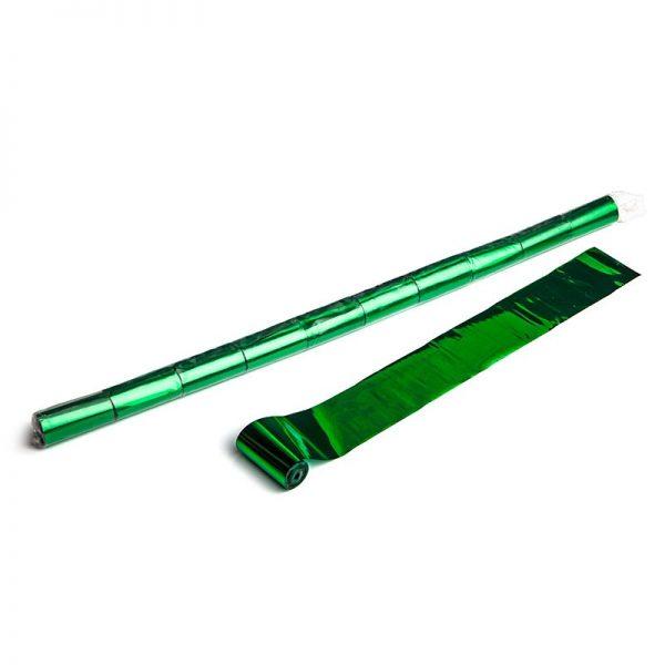 Luftschlangen 10mx5cm Grün-Metallic