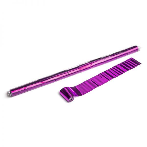Luftschlangen 10mx5cm Pink-Metallic