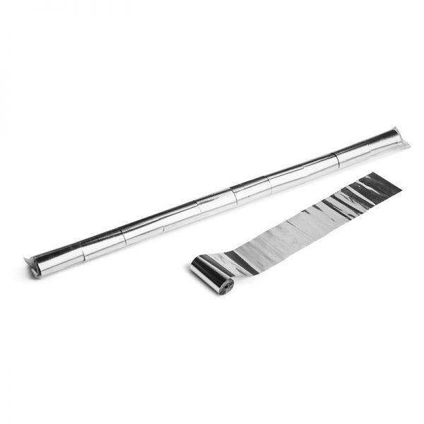 Luftschlangen 10mx5cm Silber-Metallic