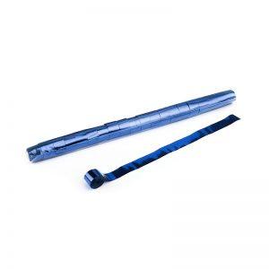 Luftschlangen 20mx2,5cm Blau-Metallic