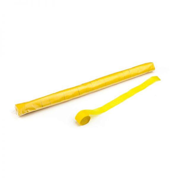 Luftschlangen 20mx2,5cm Gelb