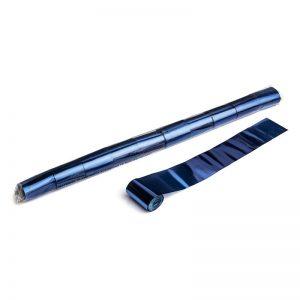 Luftschlangen 20mx5cm Blau-Metallic