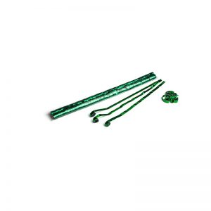 Luftschlangen 5x0,85m Dunkelgrün-Metallic