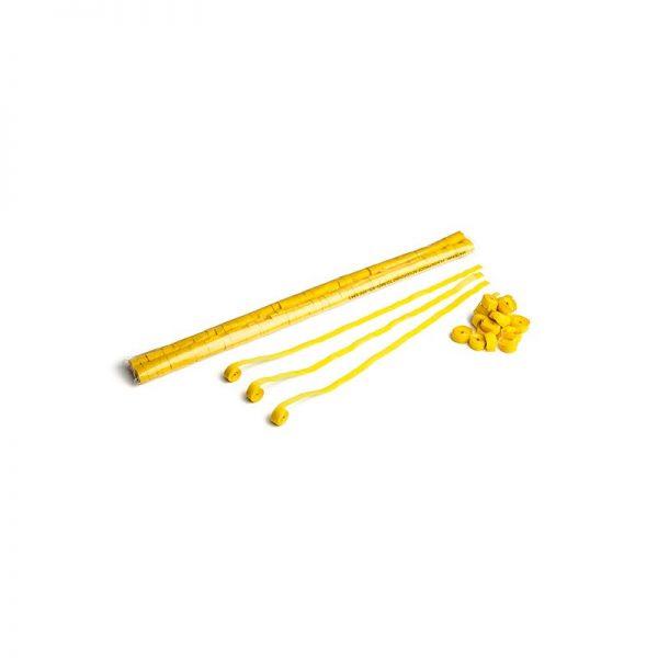 Luftschlangen 5x0,85m Gelb