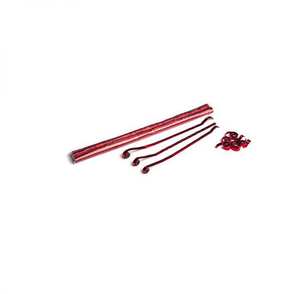 Luftschlangen 5x0,85m Rot-Metallic