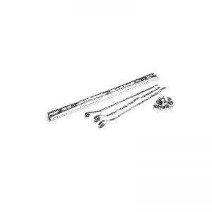 Luftschlangen 5x0,85m Silber-Metallic