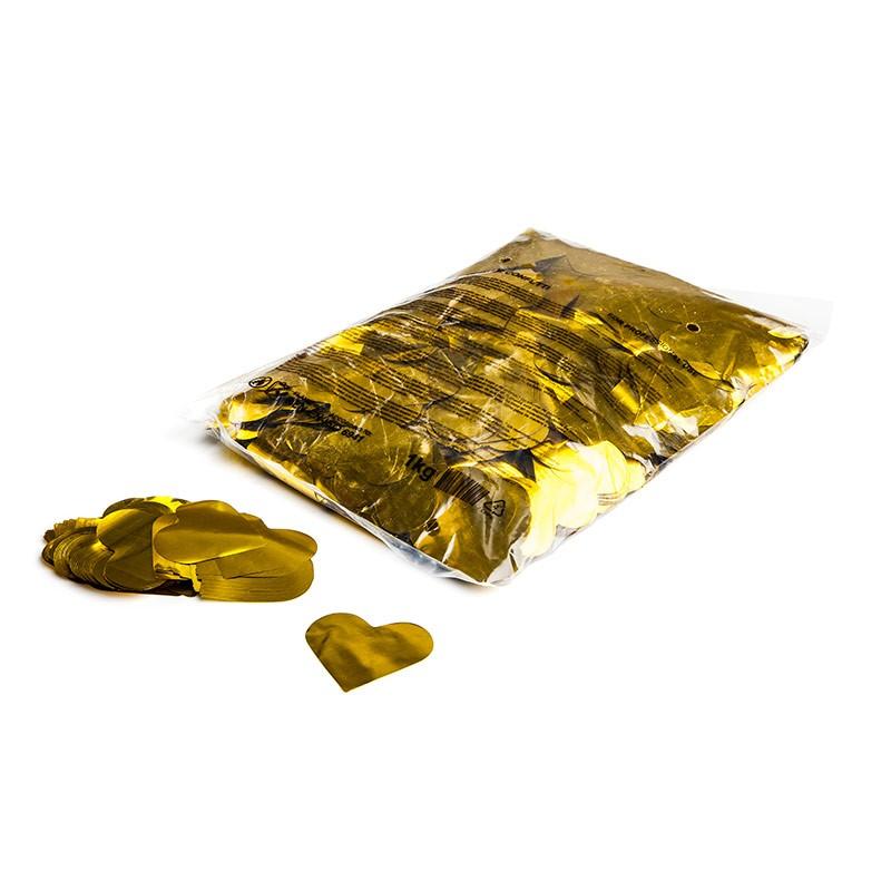 Konfetti Shapes Herzen Gold-Metallic